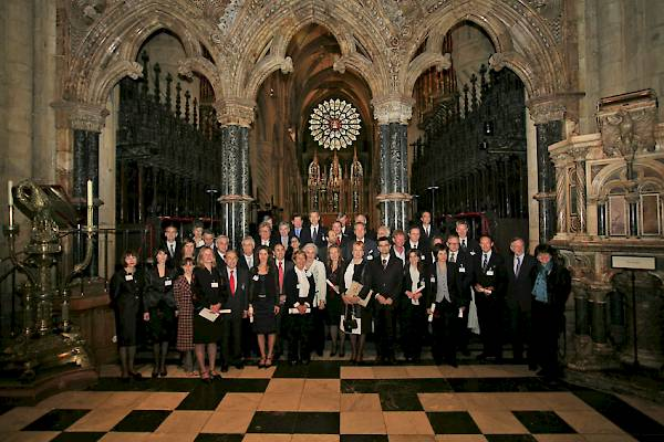 Ceremony Europa Nostra winners 2008. Durham Cathedral (12 June 2008).