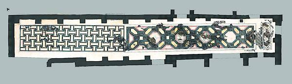 Restoration proposal of the mosaic in the north corridor